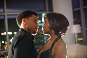 Lauren (Taraji P. Henson) on a date with Dominic (Michael Ealy)