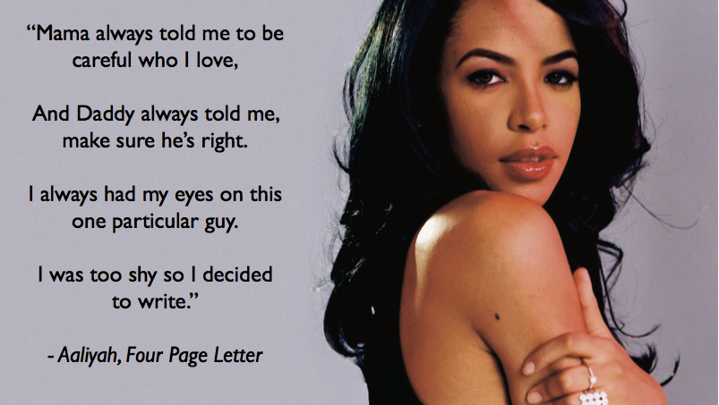 Aaliyah Four Page Letter