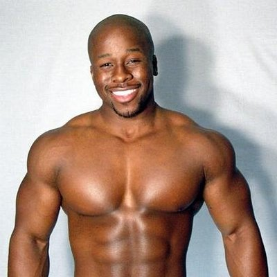 Black muscle man